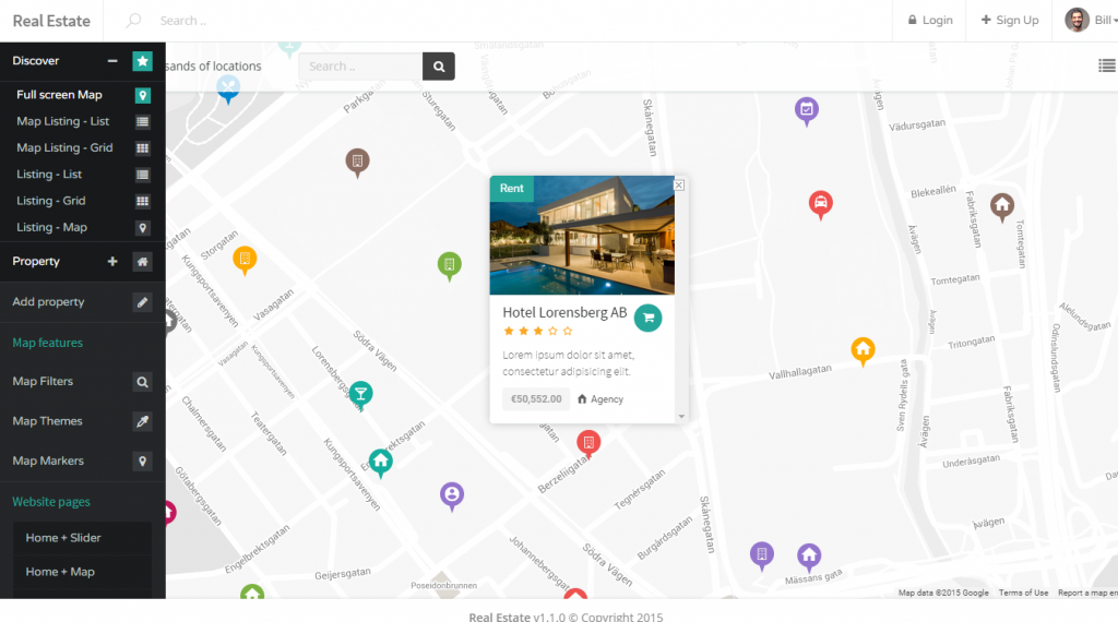 Real Estate HTML, Angular & RTL Listing Template