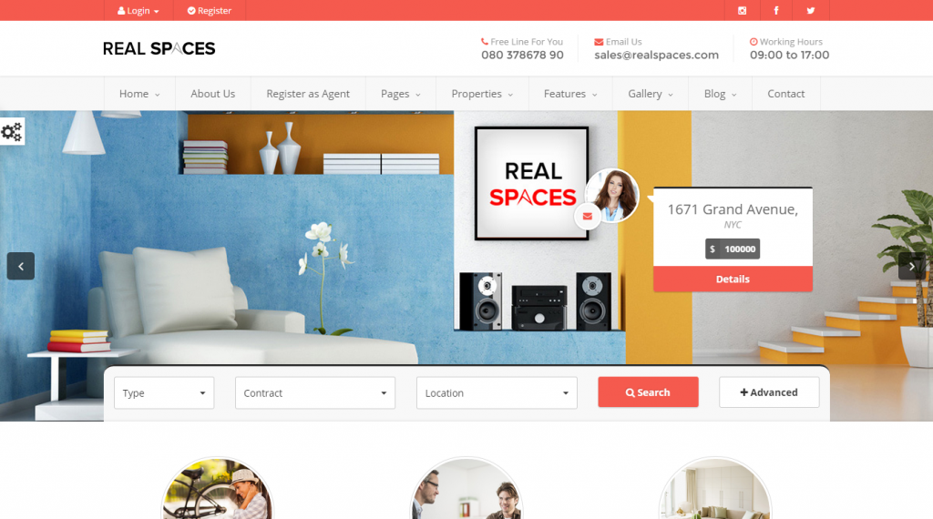 Real Spaces Responsive Real Estate Template