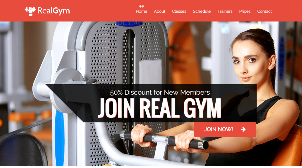 RealGym Health And Fitness Template - HTML CSS