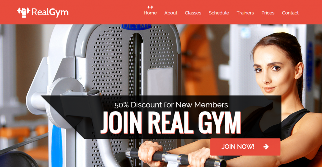 RealGym Health And Fitness Template HTML CSS