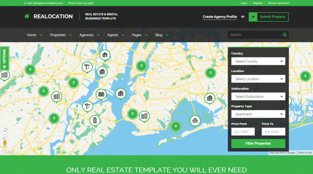 Realocation Modern Real Estate Template