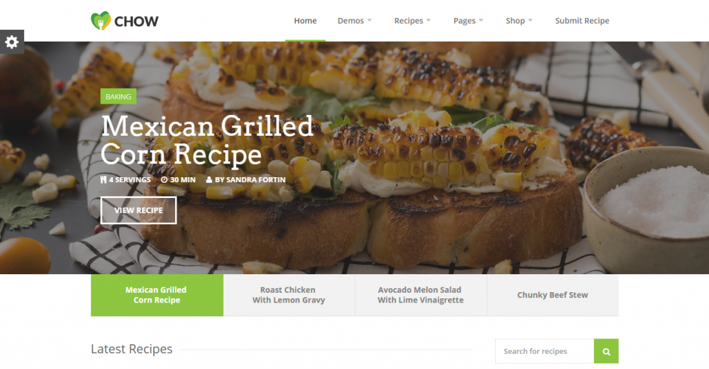 25 best recipe and food html templates weelii recipe and food html templates demo download forumfinder Choice Image