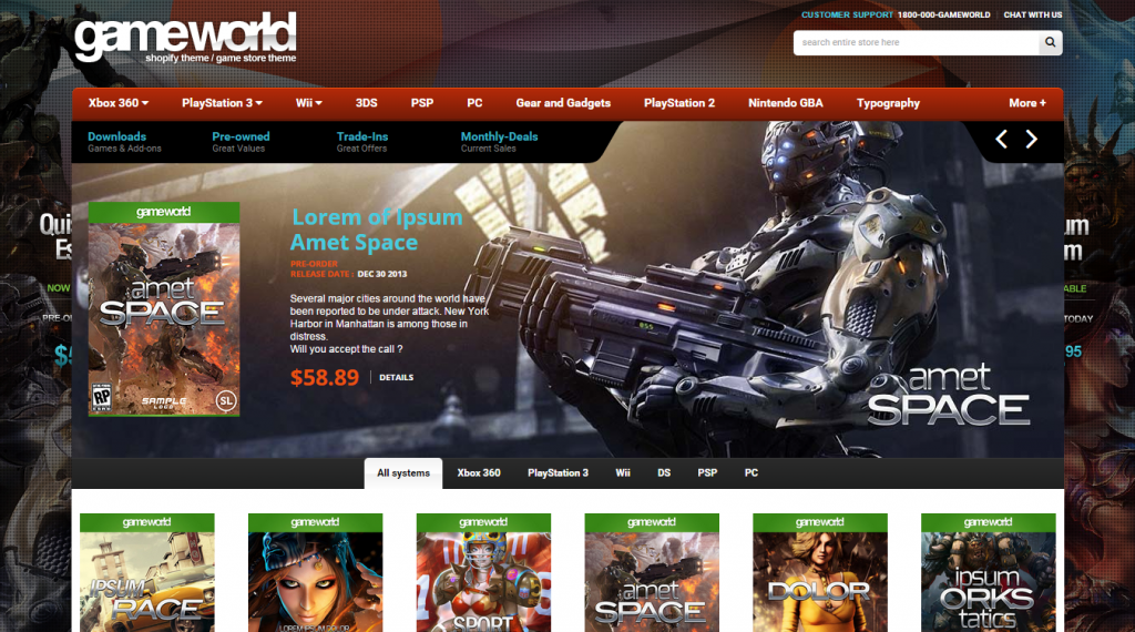 Responsive HTML Theme GameWorld