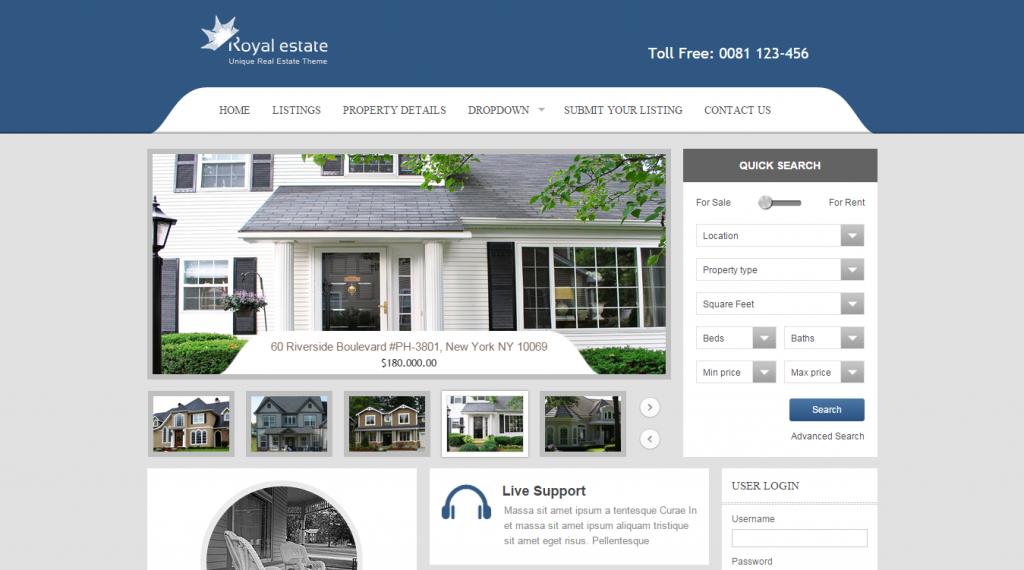 Royal Estate Premium Real Estate Theme
