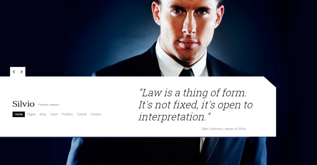 Silvio HTML Theme for Law Firms