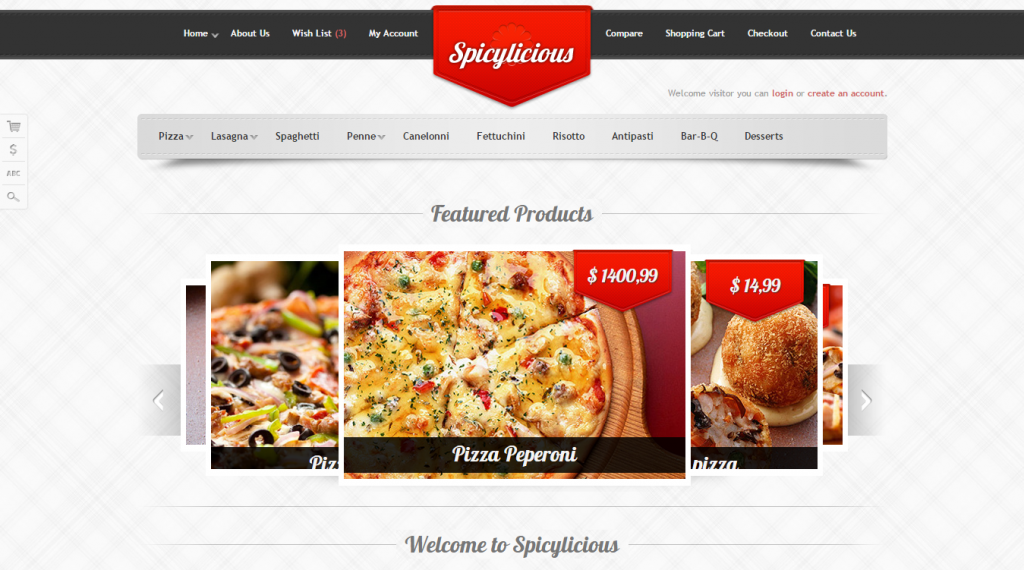 Spicylicious HTML e-commerce theme