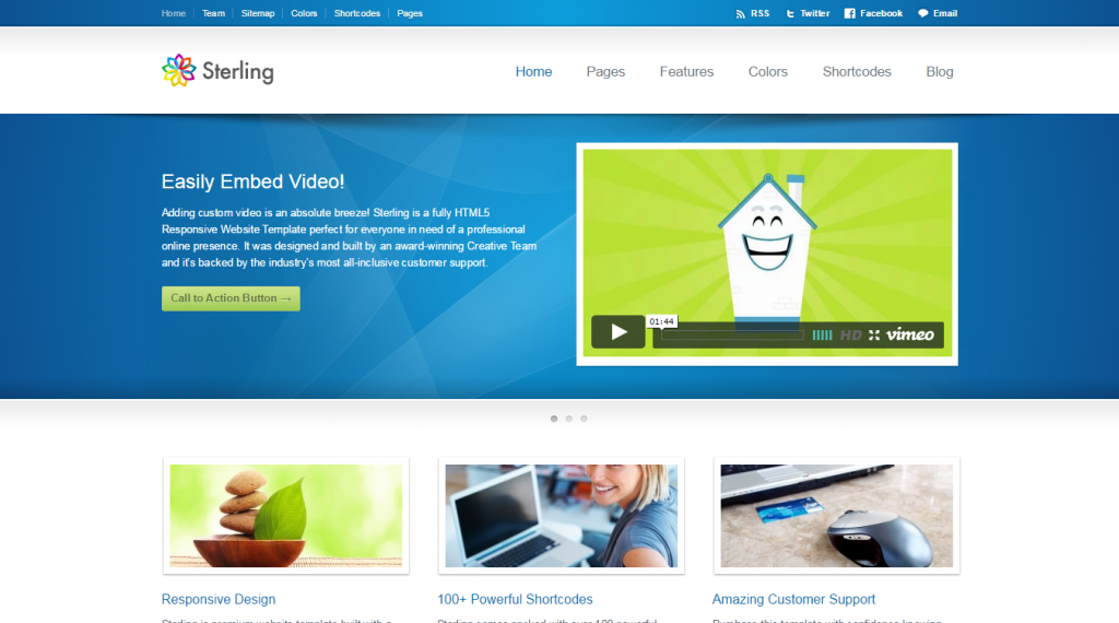 Sterling HTML5 Responsive Web Template
