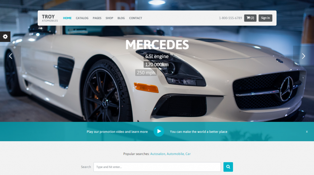 TROY Automotive Cars Portal HTML Template