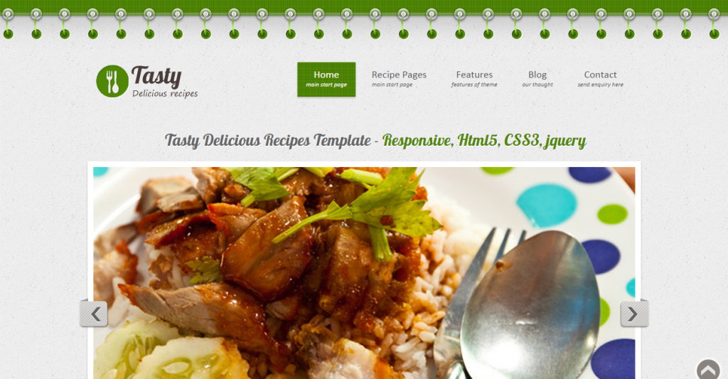 25 best recipe and food html templates weelii tasty delicious recipes forumfinder Gallery