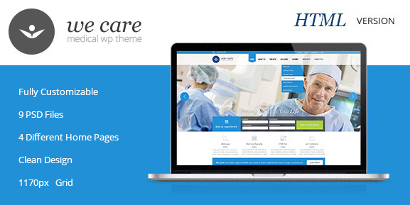 We Care Premium Medical HTML Template