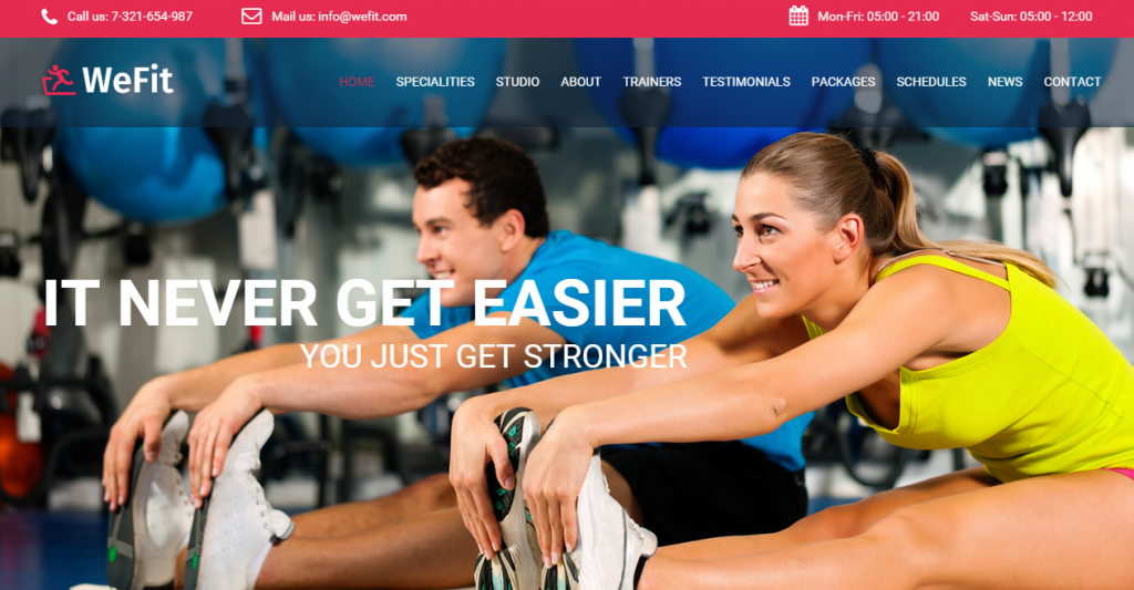 WeFit Premium Bootstrap Health & Fitness Template