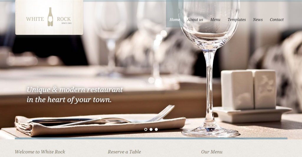 White Rock Restaurant & Winery Site Template