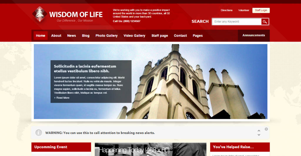 Wisdom of Life HTML Template PHP Contact Form