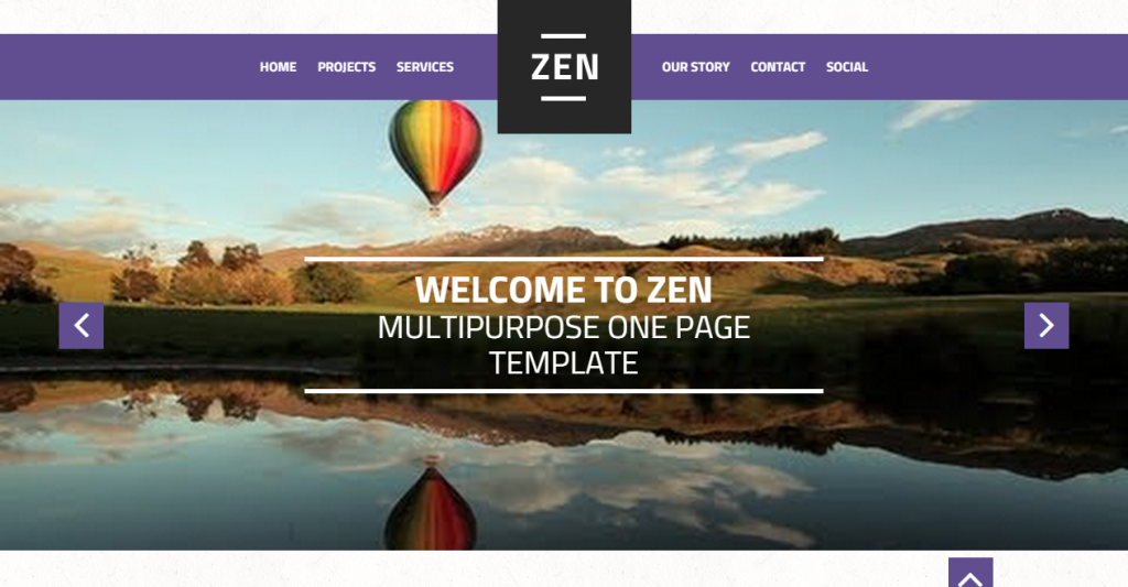 Zen Multipurpose One Page Template