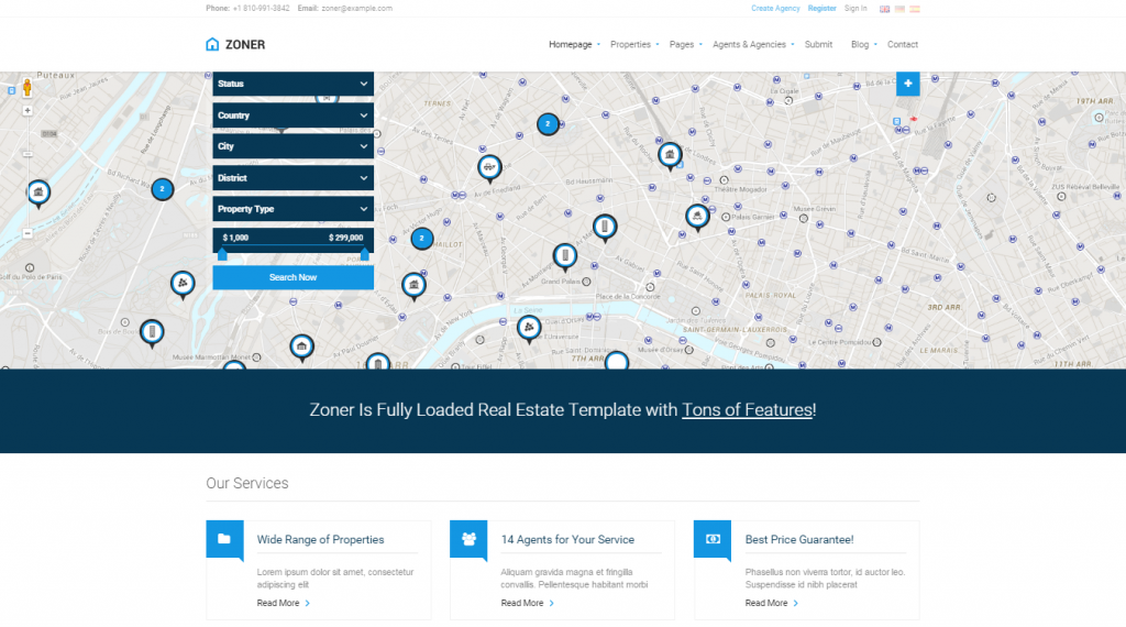 Zoner Real Estate HTML Template