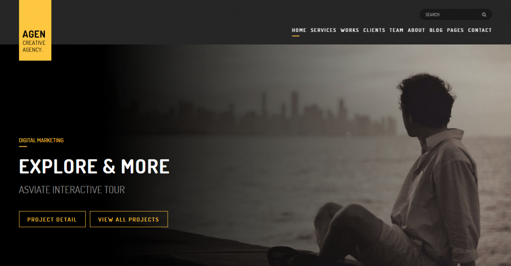 AGEN One Page Multi Page Responsive Template