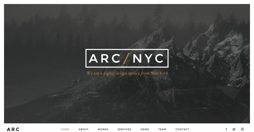 ARC Creative One Page HTML5 Template