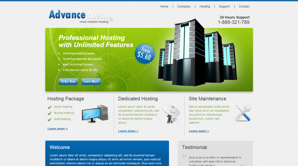Advance Hosting Web Hosting Template