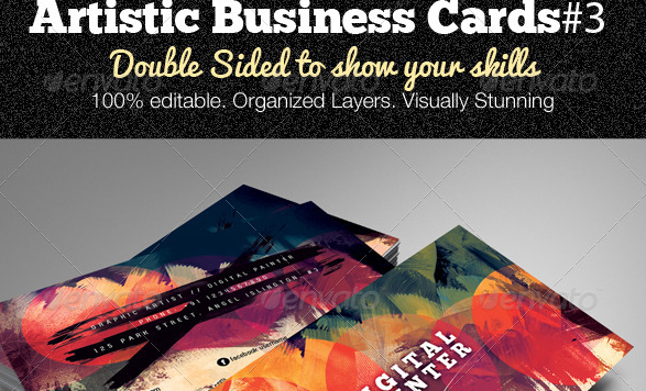 Artistic Business Card#3 PSD Template