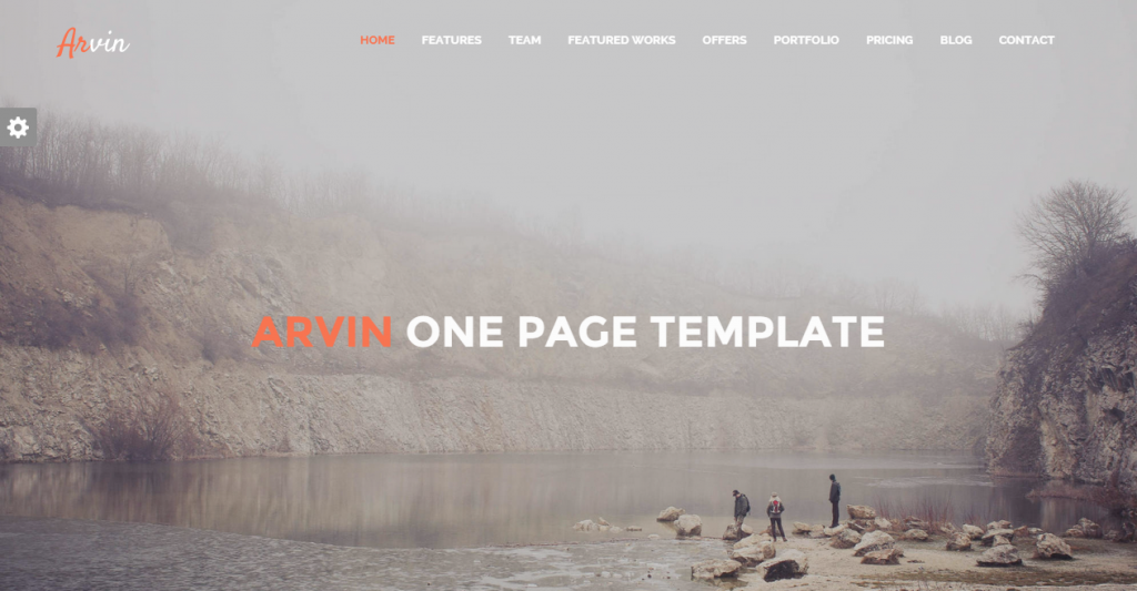 Arvin Multipurpose One Page Template