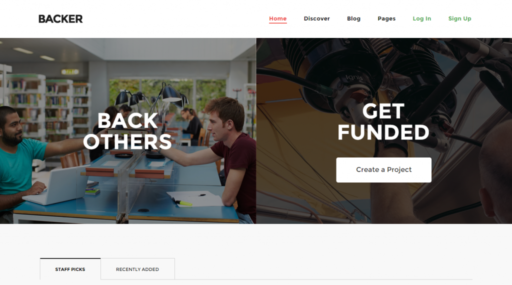 Backer The Modern WordPress Crowdfunding Theme
