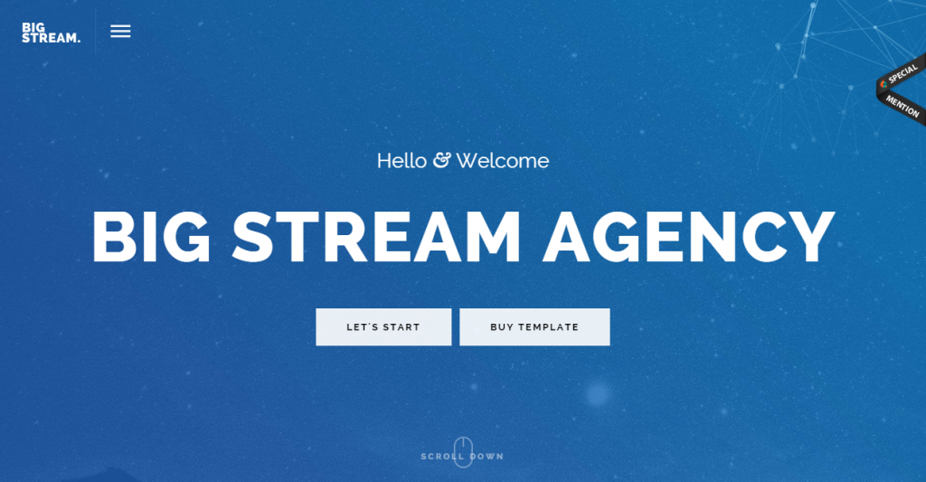 BigStream One Page Multi-Purpose Template