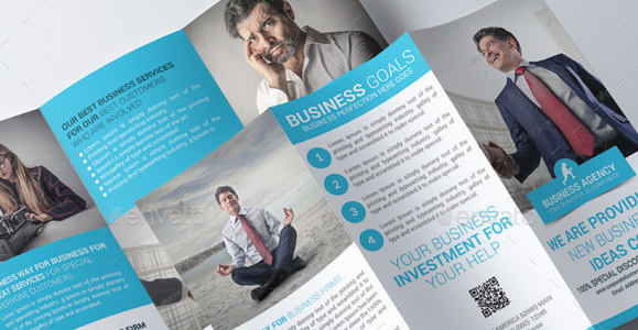 Business Trifold Brochure PSD Template 1