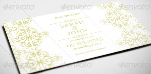 Classic Wedding Invitation and Save the Date