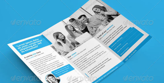 Clean Corporate Trifold PSD