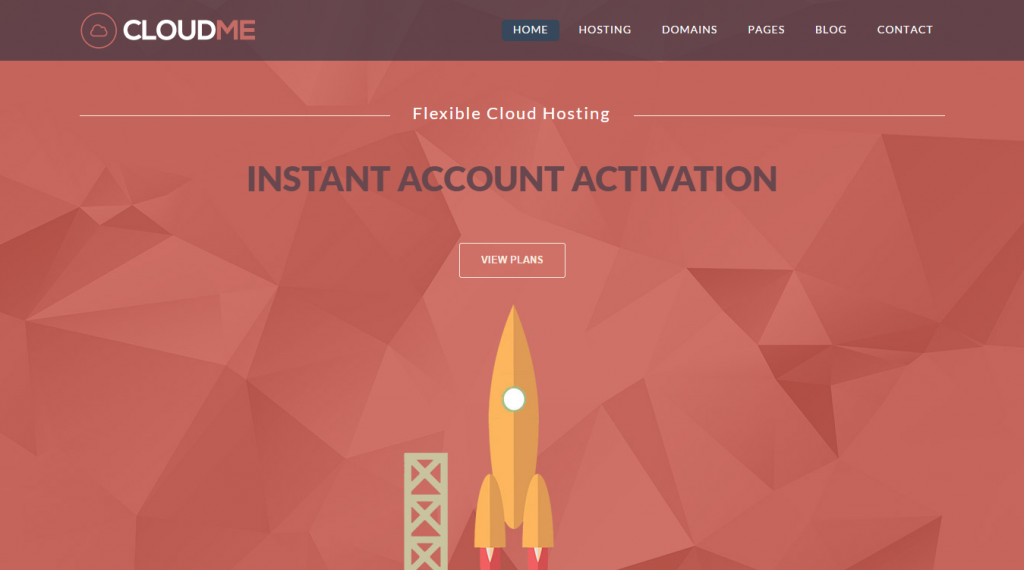 Cloud Me Web Hosting, Responsive HTML Template