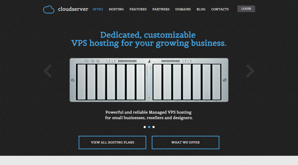 CloudServer One Page Responsive Hosting Template