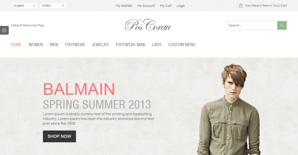 Corau Fashion Responsive Prestashop Theme