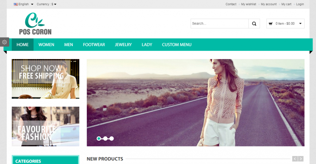 Coron Fashion Responsive Prestashop Theme