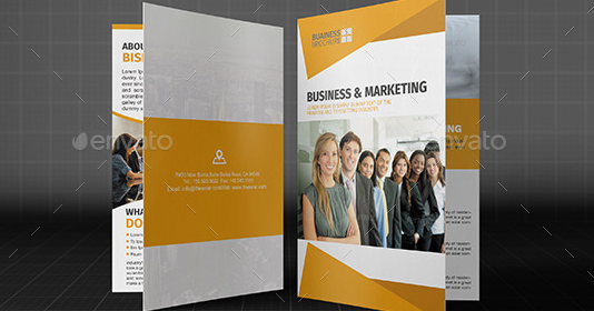 Corporate Bifold Brochure Template Vol03