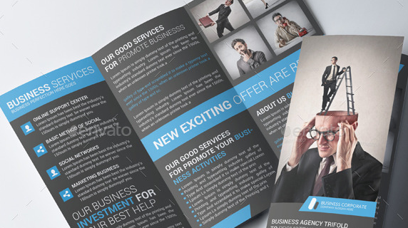 Corporate Business Trifold Brochure PSD Template