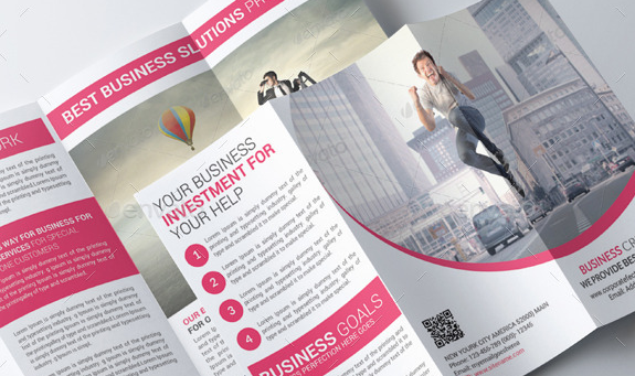 Corporate Business Trifold Brochure Psd Templates