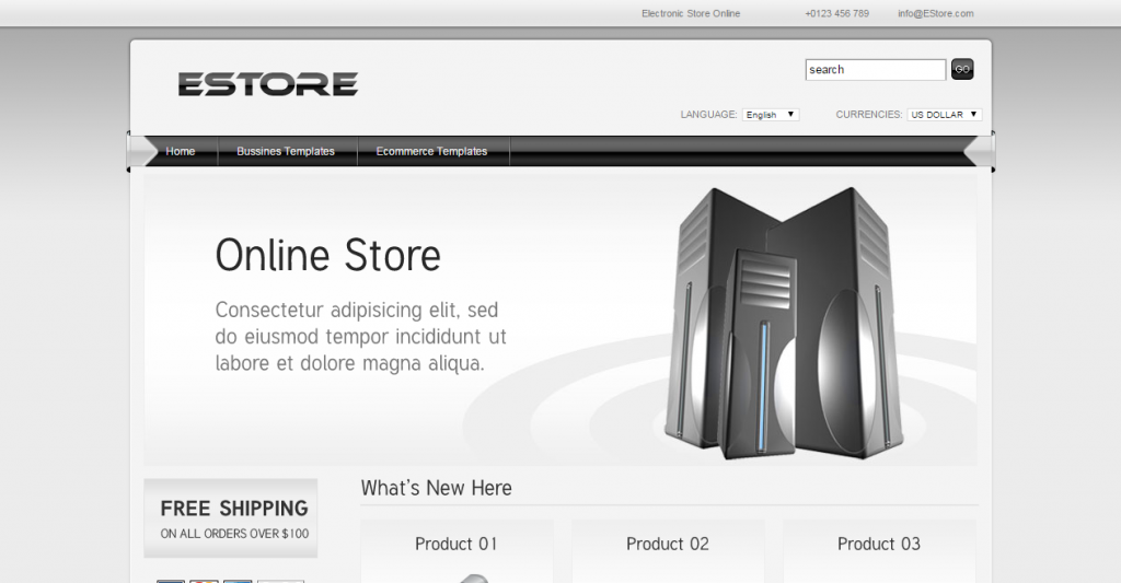 EStore HTML Template for ECommerce and Business
