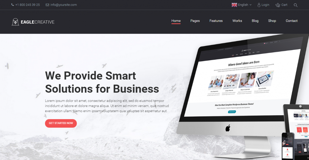 Eagle Creative Business Website Template
