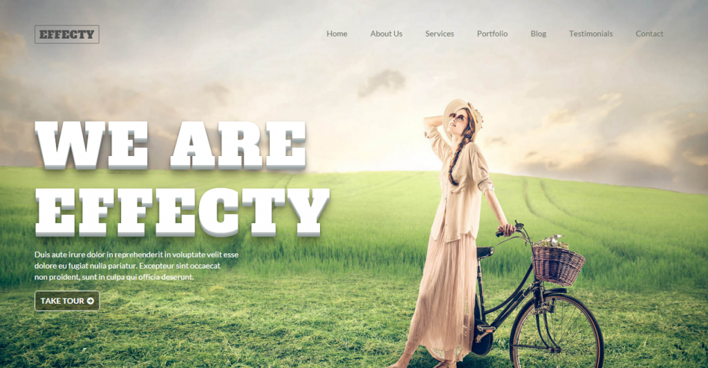 Effecty Responsive Single Page Template