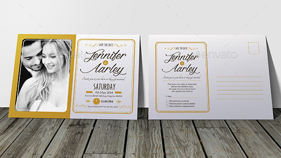 Elegant Wedding Invitation & RSVP
