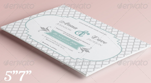 Elegant Wedding Invitation and RSVP