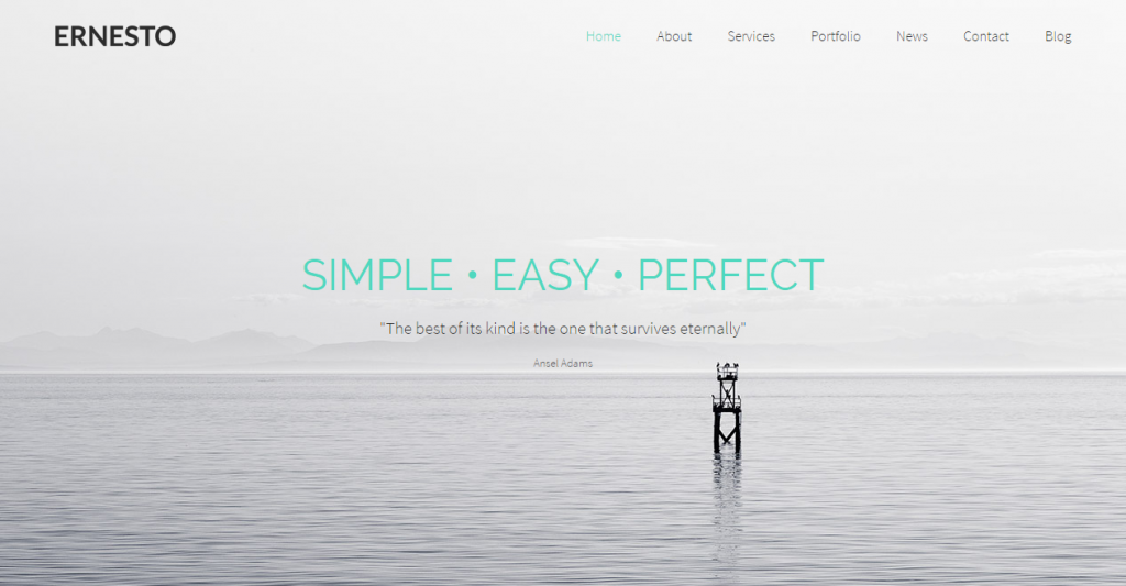 Ernesto One Page HTML5 Template