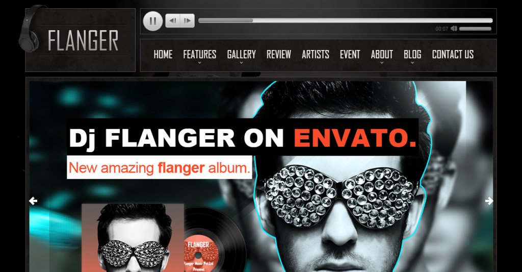 FLANGER Responsive HTML5 Music & Band Template