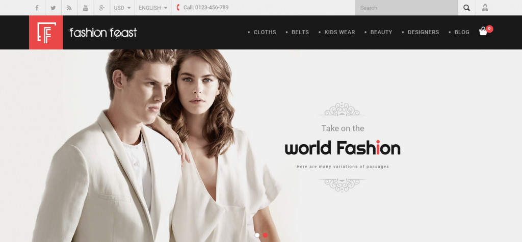 Fashion Feast Prestashop Responsive Theme