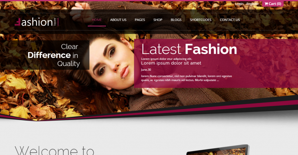 Fashion Shop Responsive Ecommerce HTML5 Theme