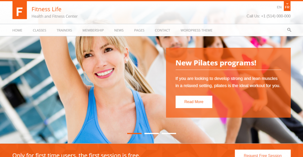 Fitness Life Gym Fitness HTML Template