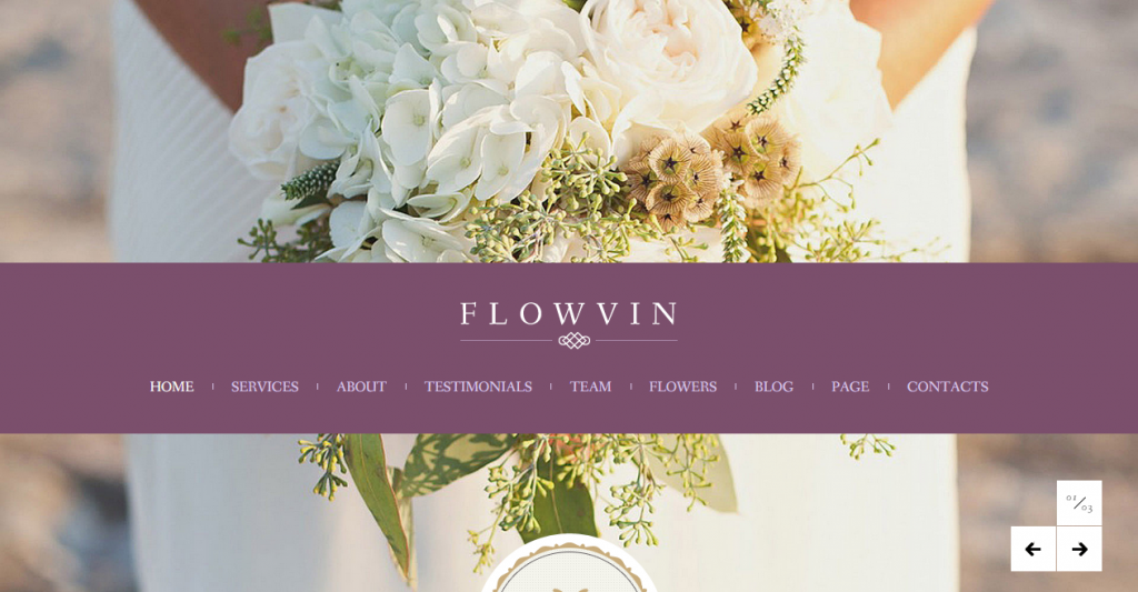 FlowVin One Page Vintage HTML5 template