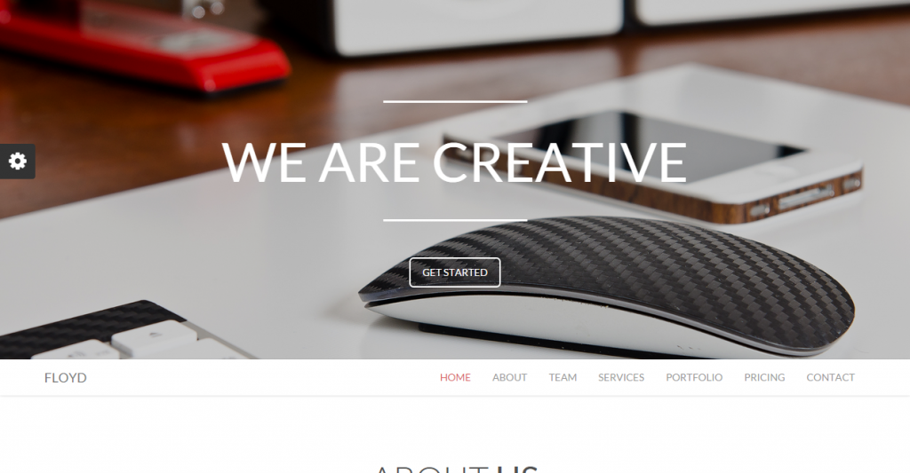 Floyd One Page Responsive Parallax Theme
