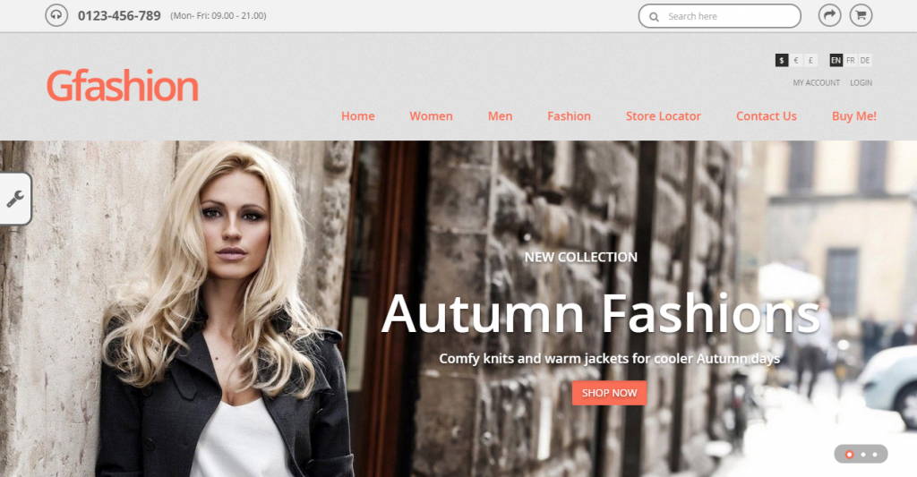 Gfashion Responsive Prestashop Theme