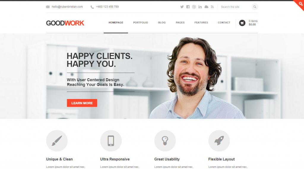 GoodWork Modern Responsive Multi-Purpose WordPress Theme